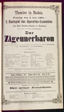 3.7.1891 <<Der>> Zigeunerbaron [Strauss, Johann]
