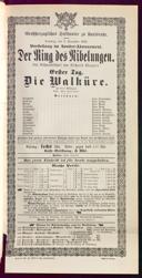8.11.1891 <<Die>> Walküre [Wagner, Richard]