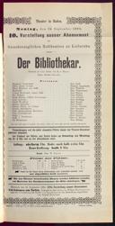 12.9.1892 <<Der>> Bibliothekar [Moser, Gustav von]