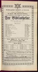 16.9.1892 <<Der>> Bibliothekar [Moser, Gustav von]