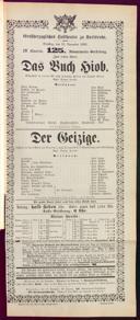 15.11.1892 <<Das>> Gelübde [Hölty, Hermann] | <<L'>> avare [Molière]