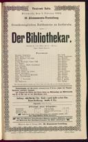 1.2.1893 <<Der>> Bibliothekar [Moser, Gustav von] | Abonnement-Konzert