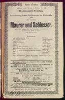 1.3.1893 <<Le>> maçon [Auber, Daniel-François-Esprit]