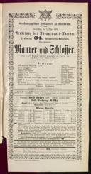 2.3.1893 <<Le>> maçon [Auber, Daniel-François-Esprit]