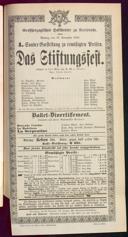 27.11.1893 <<Das>> Stiftungsfest [Moser, Gustav von] | Fidelio [Beethoven, Ludwig van]