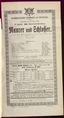 30.4.1896 <<Le>> maçon [Auber, Daniel-François-Esprit]