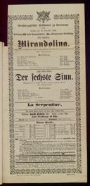 13.11.1896 <<La>> locandiera [Goldoni, Carlo] | <<Der>> sechste Sinn [Moser, Gustav von]