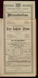 17.11.1896 <<La>> locandiera [Goldoni, Carlo] | <<Der>> sechste Sinn [Moser, Gustav von]