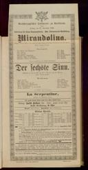 27.11.1896 <<La>> locandiera [Goldoni, Carlo] | <<Der>> sechste Sinn [Moser, Gustav von]