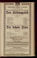 22.4.1897 <<Das>> Stiftungsfest [Moser, Gustav von] | <<Der>> sechste Sinn [Moser, Gustav von]