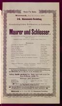 12.1.1898 <<Le>> maçon [Auber, Daniel-François-Esprit]