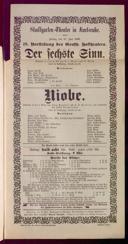 17.6.1898 <<Der>> sechste Sinn [Moser, Gustav von] | Niobe [Blumenthal, Oscar]