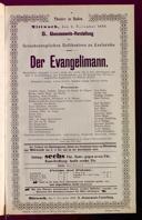 2.11.1898 <<Der>> Evangelimann [Kienzl, Wilhelm]