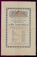 17.5.1899 <<Die>> Zauberflöte [Mozart, Wolfgang Amadeus]