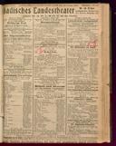 30.1.1923 <<Der>> Zigeunerbaron [Strauss, Johann]