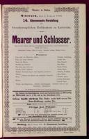 3.1.1900 <<Le>> maçon [Auber, Daniel-François-Esprit]