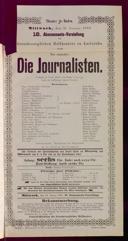 17.1.1900 <<Die>> Journalisten [Freytag, Gustav] | Abonnement-Konzert