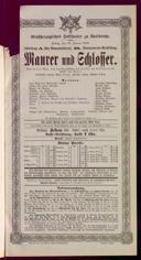 19.1.1900 <<Le>> maçon [Auber, Daniel-François-Esprit]