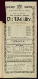 11.11.1900 <<Die>> Walküre [Wagner, Richard]
