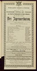 2.6.1901 <<Der>> Zigeunerbaron [Strauss, Johann]