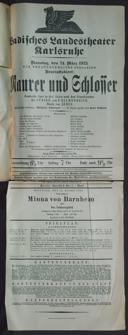 24.3.1925 <<Le>> maçon [Auber, Daniel-François-Esprit]