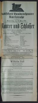 26.3.1925 <<Le>> maçon [Auber, Daniel-François-Esprit]