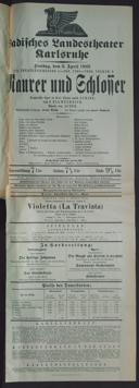 3.4.1925 <<Le>> maçon [Auber, Daniel-François-Esprit]