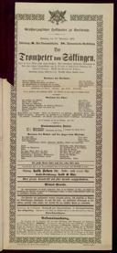 10.11.1901 <<Der>> Trompeter von Säckingen [Nessler, Victor E.]