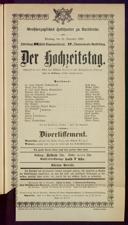 12.11.1901 <<Der>> Hochzeitstag [Wolters, Wilhelm]