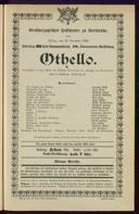 15.11.1901 Othello [Shakespeare, William] | Kammermusik-Abend