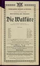 19.11.1901 <<Die>> Walküre [Wagner, Richard]