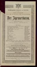 10.6.1902 <<Der>> Zigeunerbaron [Strauss, Johann]