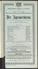 22.2.1903 <<Der>> Zigeunerbaron [Strauss, Johann]