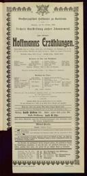 25.10.1903 <<Les>> contes d'Hoffmann [Offenbach, Jacques]