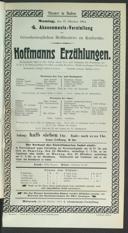 17.10.1904 <<Les>> contes d'Hoffmann [Offenbach, Jacques]