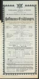 22.11.1904 <<Les>> contes d'Hoffmann [Offenbach, Jacques]