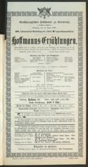 11.4.1905 <<Les>> contes d'Hoffmann [Offenbach, Jacques]