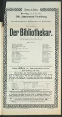 26.5.1905 <<Der>> Bibliothekar [Moser, Gustav von] | <<Les>> contes d'Hoffmann [Offenbach, Jacques]