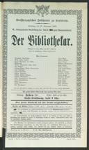 30.9.1905 <<Der>> Bibliothekar [Moser, Gustav von]
