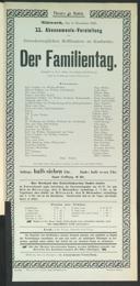 6.12.1905 <<Der>> Familientag [Kadelburg, Gustav] | Abonnement-Konzert