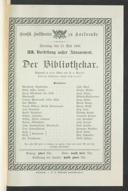 13.5.1906 <<Der>> Bibliothekar [Moser, Gustav von] | <<Die>> Zauberflöte [Mozart, Wolfgang Amadeus]