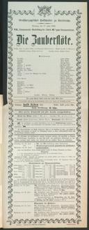 17.6.1906 <<Die>> Zauberflöte [Mozart, Wolfgang Amadeus]