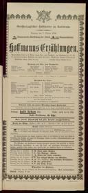 7.10.1906 <<Les>> contes d'Hoffmann [Offenbach, Jacques]