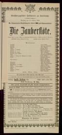 14.10.1906 <<Die>> Zauberflöte [Mozart, Wolfgang Amadeus]