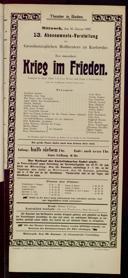 16.1.1907 Krieg im Frieden [Moser, Gustav von] | Abonnement-Konzert