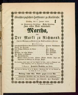 [Karlsruher und Badener Theaterzettel | 1850]