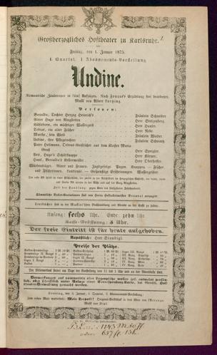 [Karlsruher und Badener Theaterzettel | 1875]