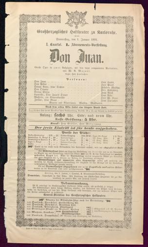 [Karlsruher und Badener Theaterzettel | 1891]