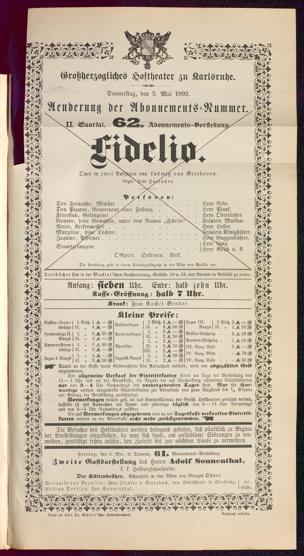 5.5.1892 Fidelio [Beethoven, Ludwig van]