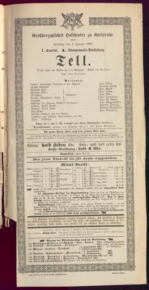 [Karlsruher und Badener Theaterzettel | 1893]